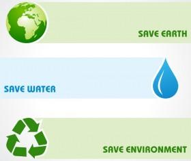 Save environment design vector material 04