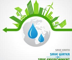 Save environment design vector material 05