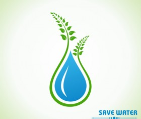 Save environment design vector material 06