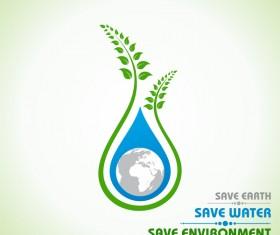 Save environment design vector material 07