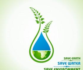 Save environment design vector material 08