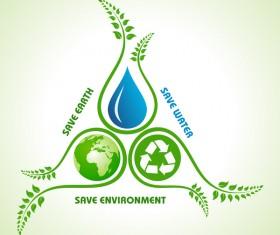 Save environment design vector material 10