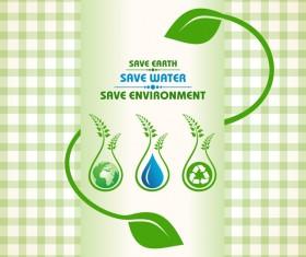 Save environment design vector material 11