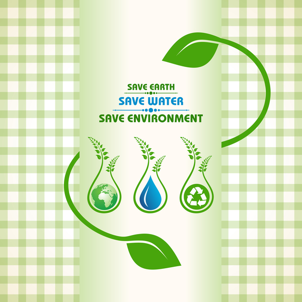 Save environment design vector material 11