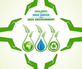 Save environment design vector material 12