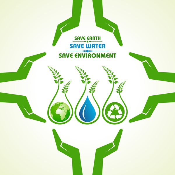 save environment design vector material 12 free download