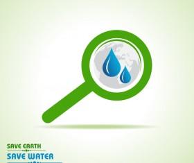 Save environment design vector material 14