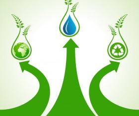Save environment design vector material 15