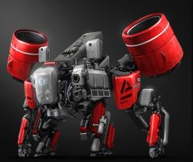 Sci-fi robot Stock Photo