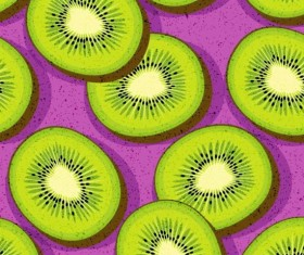 Seamless kiwi pattern vector