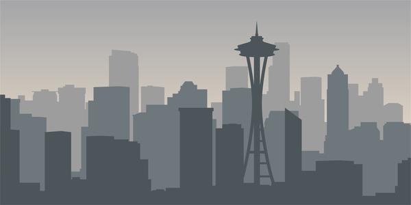 Seattle city skyline vector