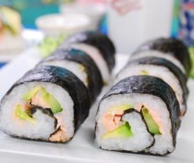 Seaweed rice rolls Stock Photo
