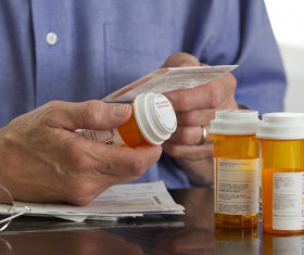 See the drug instructions Stock Photo