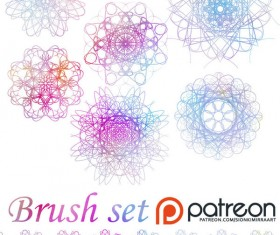 Set of Decorative Photoshop Brushes