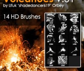 Shades Volcanoes Photoshop Brushes