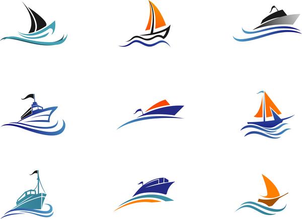 Ship Colored Logos Vector Vector Logo Free Download