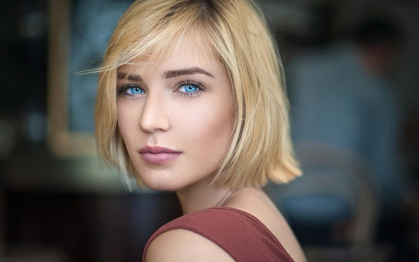 Short Hair Beautiful Girl Hd Picture Free Download