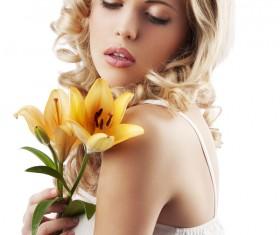 Shoulder flower girl Stock Photo