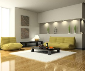 Simple and stylish living room Stock Photo