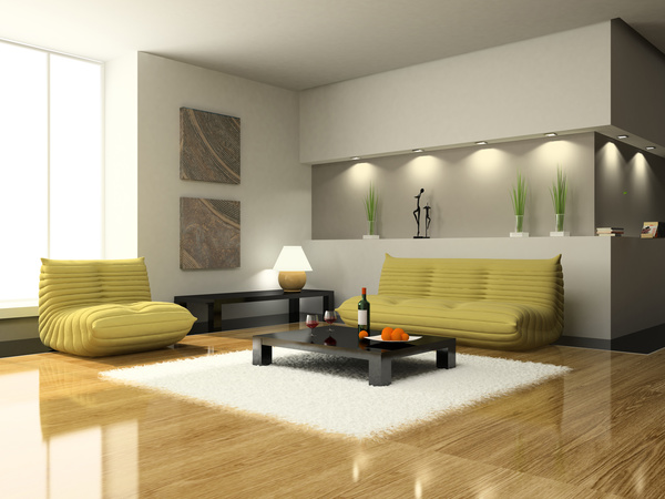 stylish living rooms. Simple and stylish living room Stock Photo  Interiors stock photo