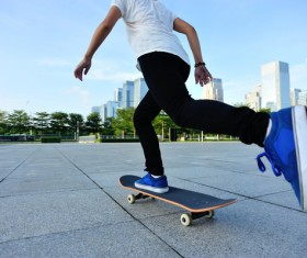 Skateboarding teenager Stock Photo 01