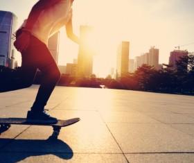 Skateboarding teenager Stock Photo 03