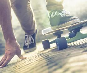 Skateboarding teenager Stock Photo 04