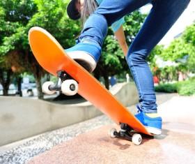 Skateboarding teenager Stock Photo 05