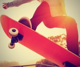 Skateboarding teenager Stock Photo 06