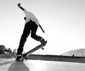 Skateboarding teenager Stock Photo 08