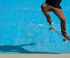 Skateboarding teenager Stock Photo 09