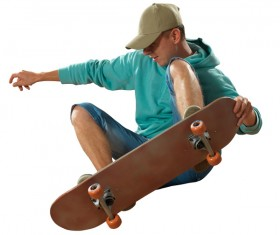 Skateboarding teenager Stock Photo 10