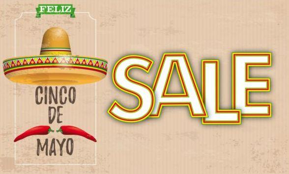 Sombrero Cinco De Mayo Chili Vintage Header Sale vector