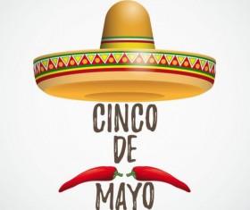 Sombrero Cinco De Mayo Chili vector