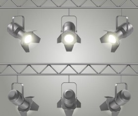 Spotlights and searchlights vector material 03