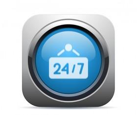 Square date app icon