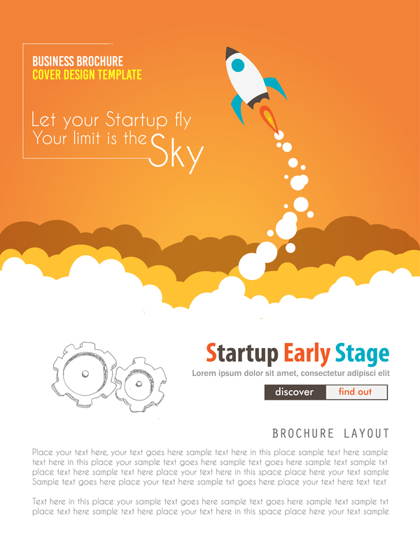 Startup fly modern infgraphic vector material 01