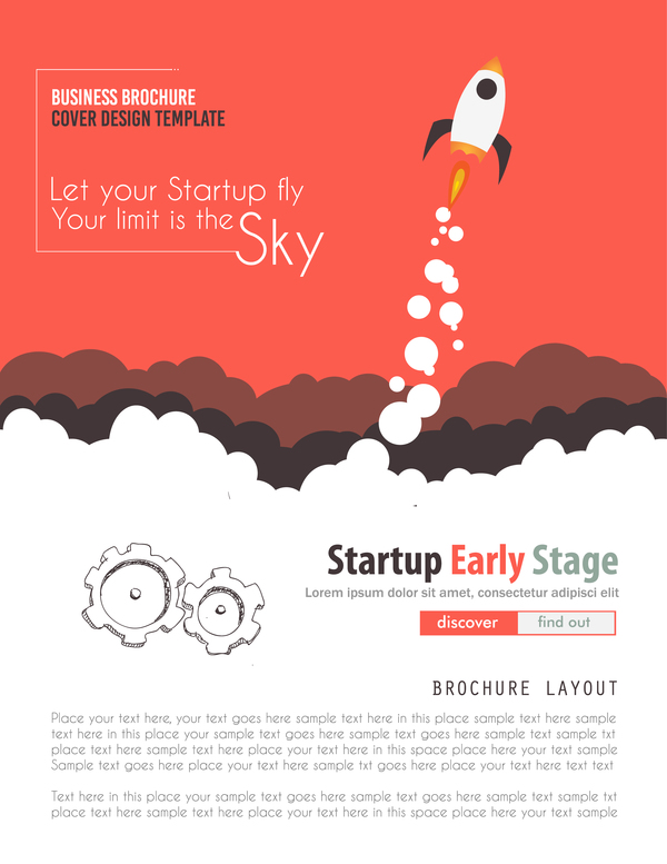 Startup fly modern infgraphic vector material 04