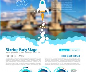 Startup fly modern infgraphic vector material 13
