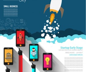 Startup fly modern infgraphic vector material 15