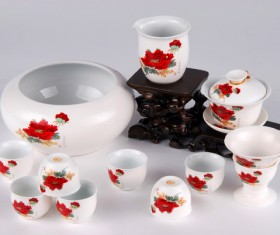Stock Photo Ceramic tea sets