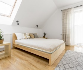 Streamlining bedroom and bed plant Stock Photo