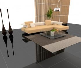 Stylish living room decoration Stock Photo