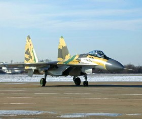 Su 35 fighters Stock Photo 01
