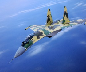 Su 35 fighters Stock Photo 02