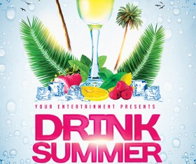 Summer Drinks Flyer PSD Template