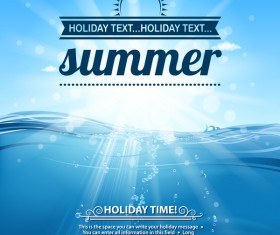 Summer holiday beach poster vector design 02