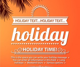 Summer holiday beach poster vector design 03