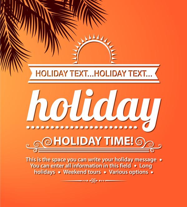 Summer holiday beach poster vector design 03