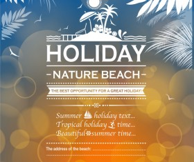 Summer holiday beach poster vector design 05